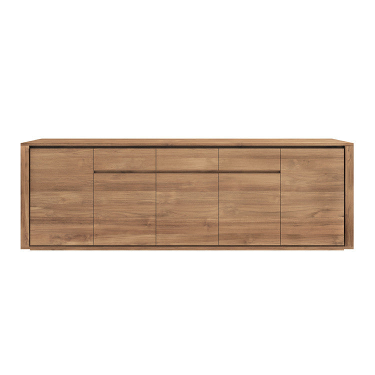 Teak Elemental Sideboard 5 Doors 3 Drawers