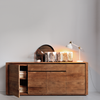 Teak Elemental Sideboard 4 Doors 2 Drawers