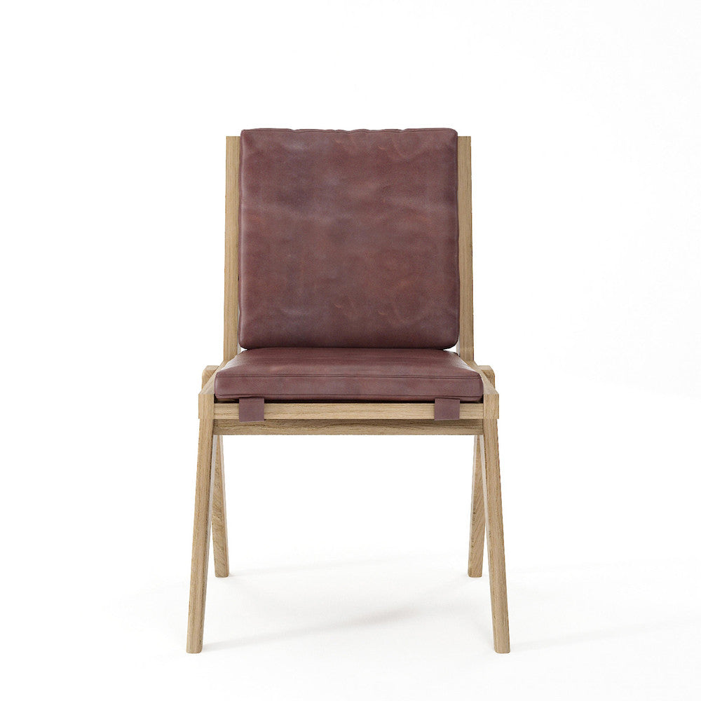 Karpenter Tribute Oak Chair Dark Brownie Leather