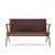 Tribute Oak 2 Seater Sofa with Leather