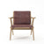 Tribute Oak Easy Chair with Leather