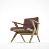 Karpenter Tribute Oak Easy Chair Dark Brownie Leather