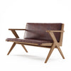 Karpenter Tribute Teak 2 Seater Sofa Dark Brownie