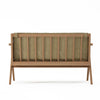 Karpenter Tribute Teak 2 Seater Sofa Safari Grey