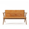 Karpenter Tribute Teak 2 Seater Sofa Tan Cognac