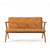 Tribute Teak 2 Seater Sofa with Leather