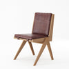 Karpenter Tribute Teak Chair Dark Brownie Leather