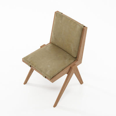 Karpenter Tribute Teak Chair Safari Grey Leather