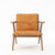 Karpenter Tribute Teak Easy Chair Tan Cognac Leather