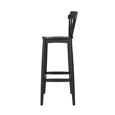 Karpenter Twist Barstool - Satin Black European Oak