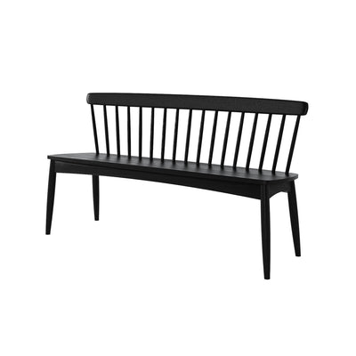 Karpenter Twist Bench - Satin Black European Oak