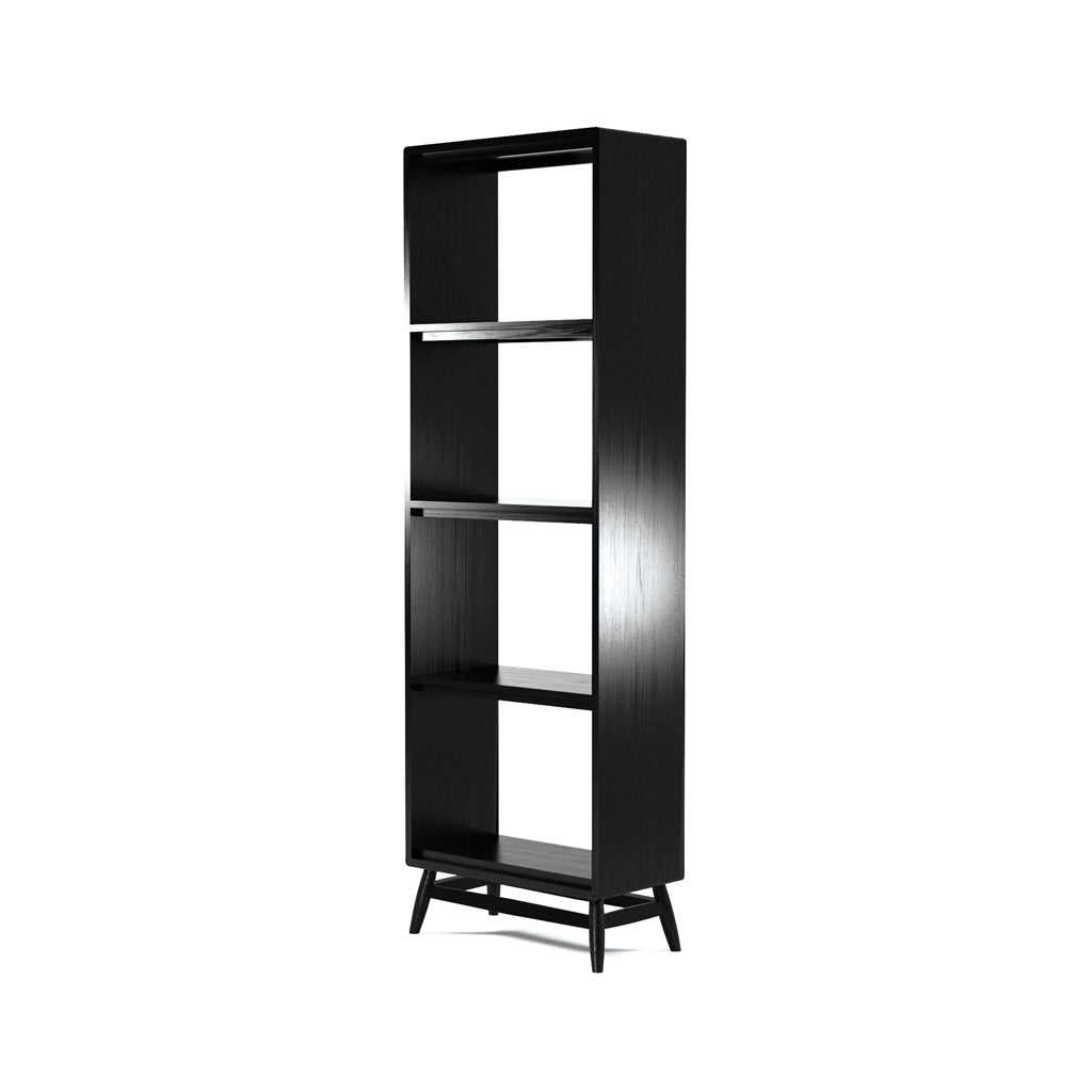 Karpenter Twist Bookshelf - Satin Black European Oak