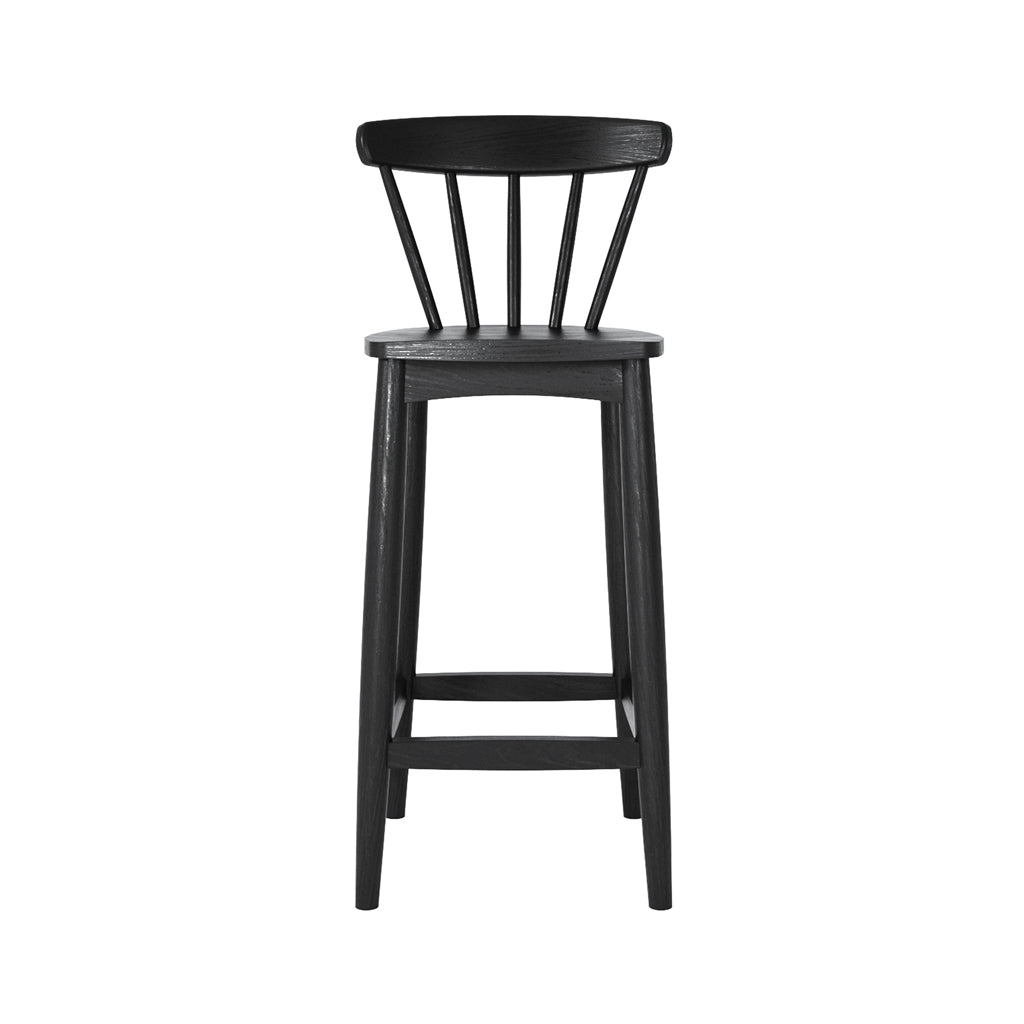 Karpenter Twist Counter Stool - Satin Black European Oak