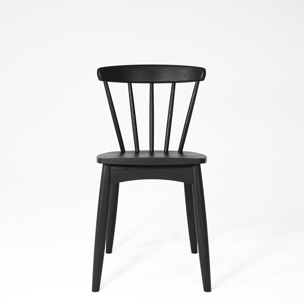 Karpenter Twist Dining Chair - Satin Black European Oak