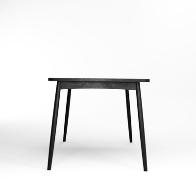 Karpenter Twist Dining Table - Satin Black European Oak