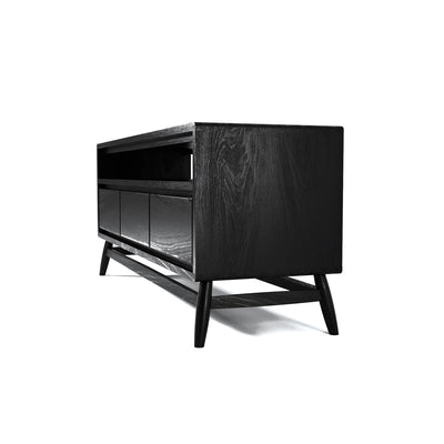 Karpenter Twist TV Chest - Satin Black European Oak