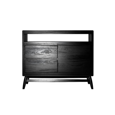 Karpenter Twist Sideboard - Satin Black European Oak