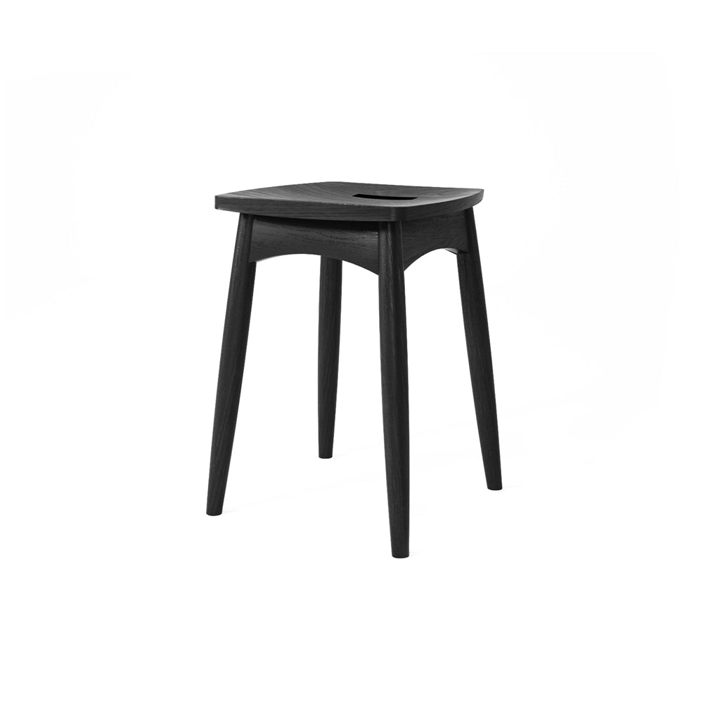 Karpenter Twist Stool - Satin Black European Oak