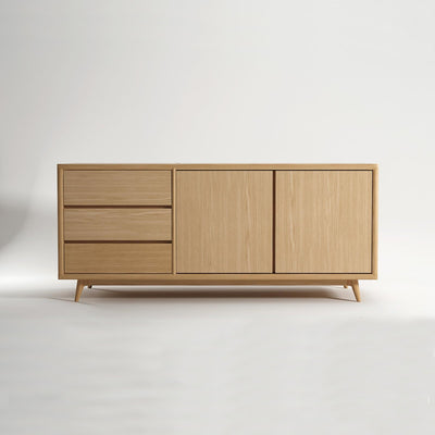 Vintage Sideboard European White Oak