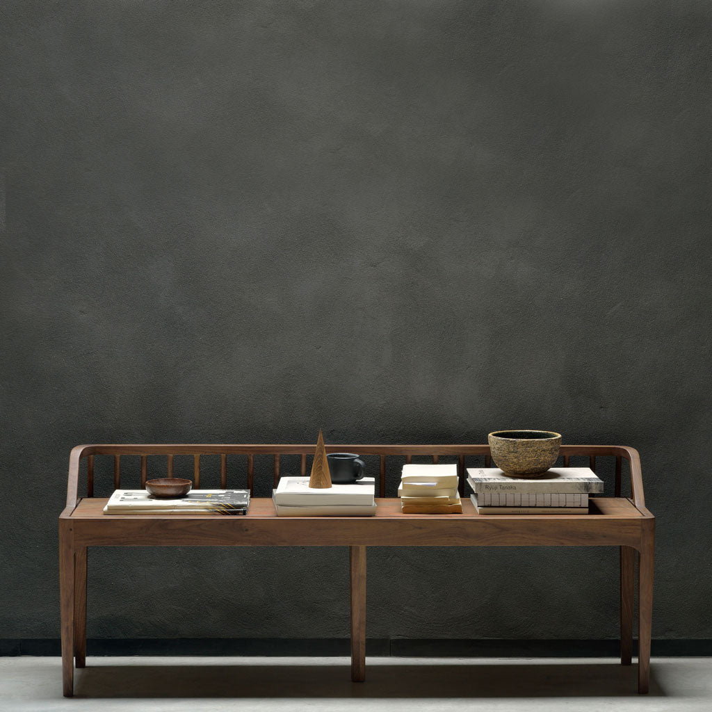 Walnut Spindle Bench