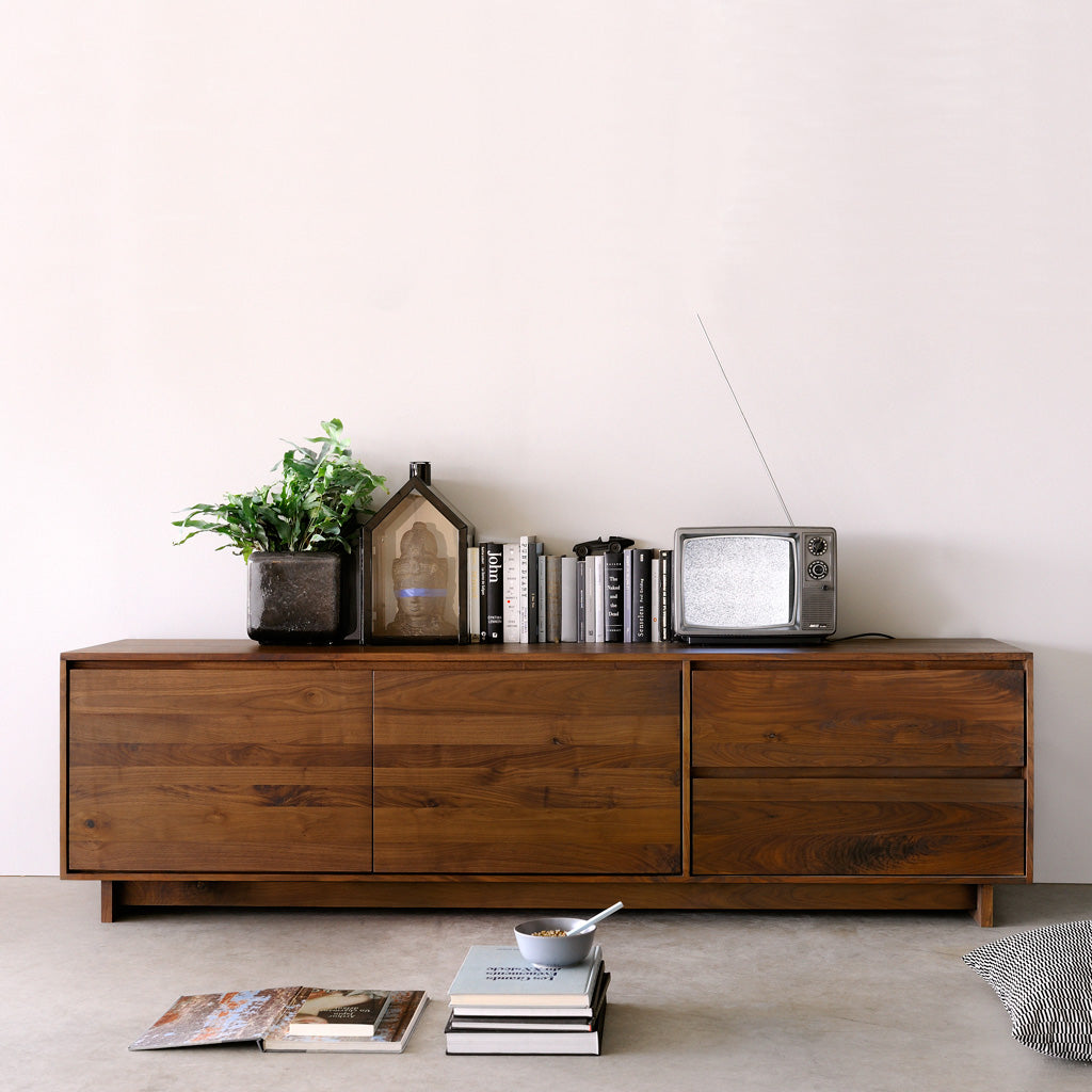 Ethnicraft Walnut Wave Entertainment Unit