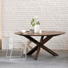 Walnut Circle Dining Table