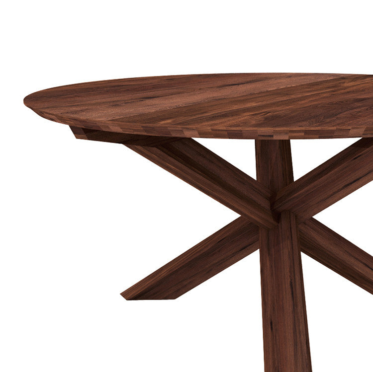 Ethnicraft Walnut Circle Dining Table By Ethnicraft Volume Furniture
