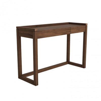 Walnut Frame PC Console 120cm