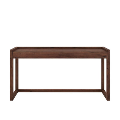 Walnut Frame PC Console 160cm