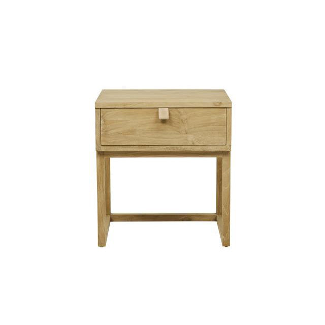 Willow Leather Tab Bedside Table