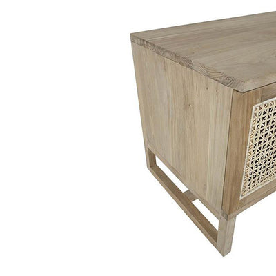 Willow Woven Entertainment Unit Natural Teak