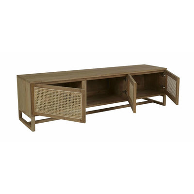 Willow Woven Entertainment Unit Rattan Doors