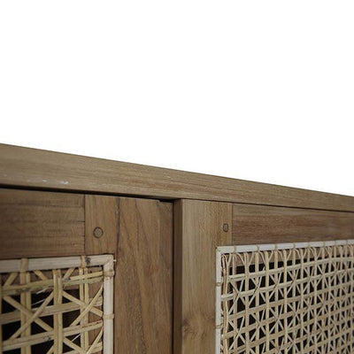 Willow Woven Sideboard Natural Teak