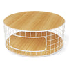 Wireframe Coffee Table in Natural Oak/White