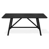 Wychwood Dining Table in Black Ash/Black