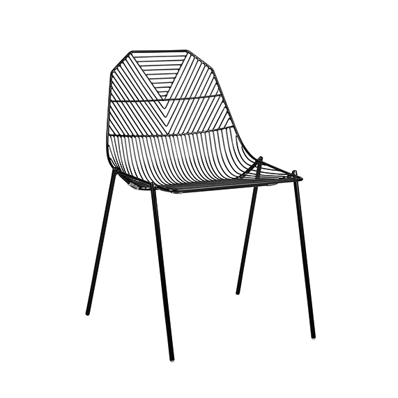 Arrow Chair Gloss Black