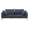 Vittoria Langham 3 Seater Sofa in Navy Quartz