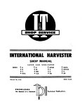 International Harvester Tractor Super and Non-Super Models A, B, C, MTA, H, M, MD, Cub, MTAD, 4, 6, D6, W6TA, W6TAD, 9, D9 - Shop Manual
