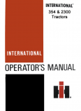 International 354 and 2300 Tractors Manual