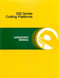 John Deere 213, 215, 216, 218, 220, 222, and 224 Cutting Platforms Manual