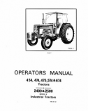 International 454, 474, 475, 574, and 674 Tractors and 2400 ... on