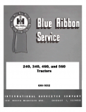 International 240, 340, 460, and 560 Tractor - Service Manual