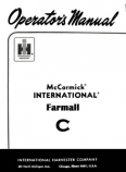 International Farmall C and Super C Tractor Manual