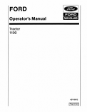 Ford 1100 Tractor Manual