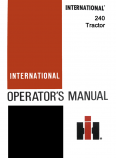 International 240 Tractor Manual