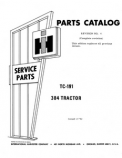 International 384 Tractor - Parts Catalog