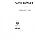 International 656 and 2656 Tractors - Parts Catalog