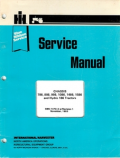 International 786, 886, 986, 1086, 1486, 1586, and Hydro 186 Tractors - Service Manual
