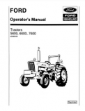 Ford 5600, 6600, and 7600 Tractors Manual