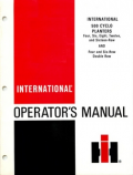 International 500 Cyclo Planters Manual